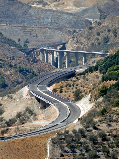 Some impressive civil engineering on the road to Granada