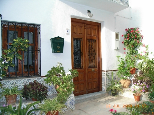 Another pretty entrance to a village house
