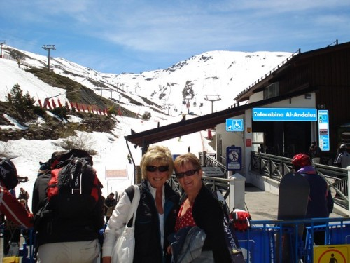 Annie and Nonny enjoying the Sierra Nevadas