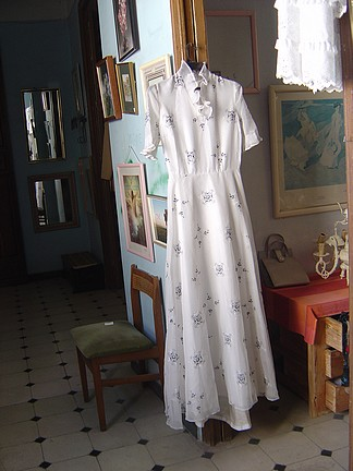 Isn't this a fabulous dress.  The lining is like a heavy satin moleskin almost.
