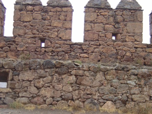 Part of the original fortress walls encircling the fortress