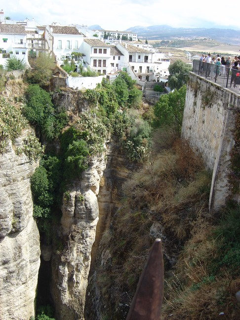 part of the gorge in Ronda