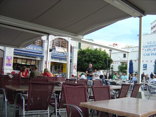 A cafe in the main square