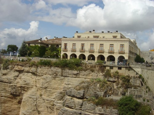 The Ronda Parador overlooks the gorge