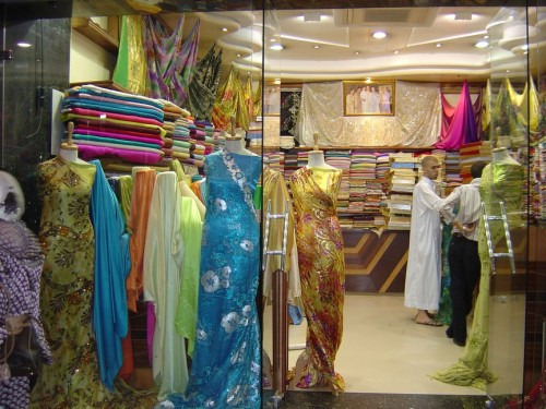 Beautiful fabrics were everywhere.