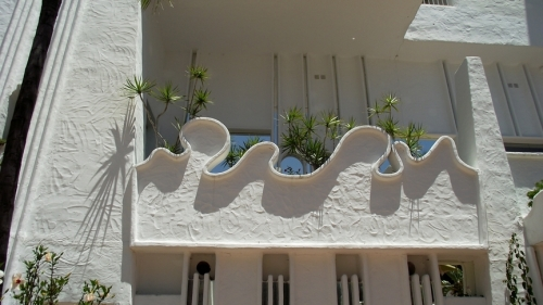 Guadi influenced design for the balcony