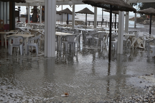 La Bahia Restaurant under water